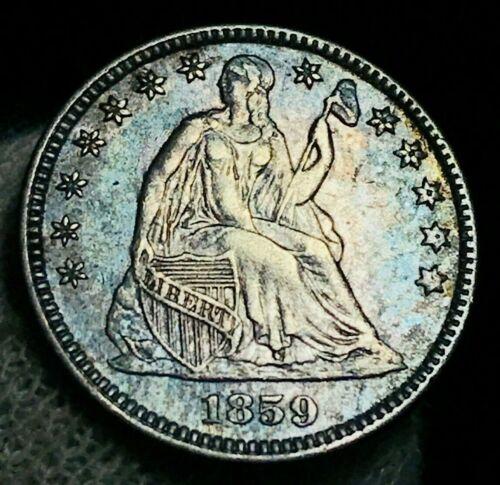 1859 Seated Liberty Half Dime 5C High Grade AU-MS CRAIN Silver US Coin CC2327