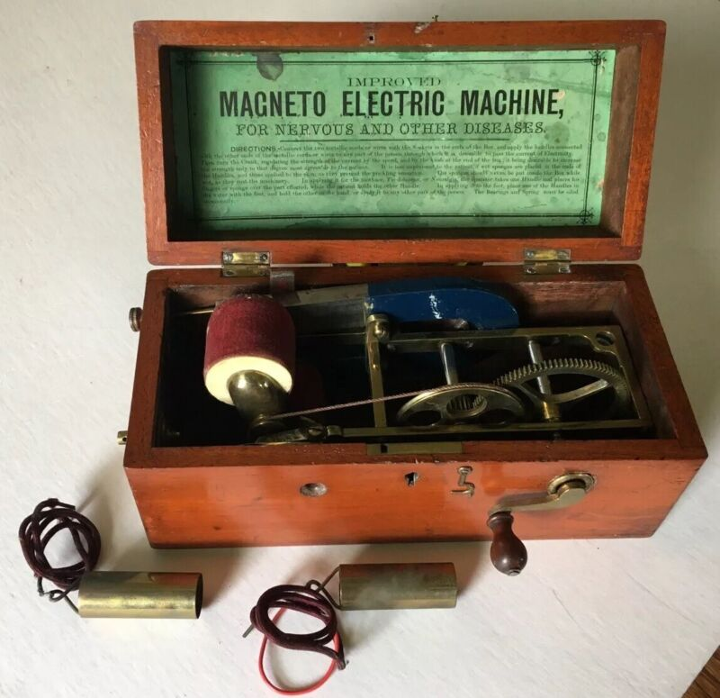 c.1854 Patent Magneto Electric Machine For Nervous And Other Diseases