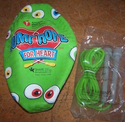 New American Heart Association Inflatable Green Eye Ball   Jumprope Jump Rope