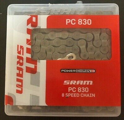 """8-Speed 114 Links Road Bike Bicycle Chain for SRAM PC-830 Stain Steel 1//2/"""" x 3//3"""