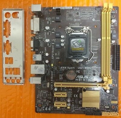 ASUS H81M-E H81 LGA1150/H3 DDR3 uATX with I/O Shield, Clean/Working
