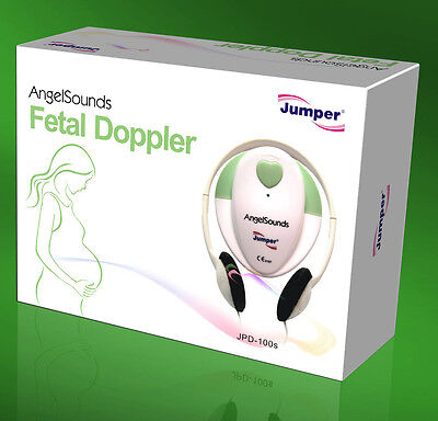 Angelsounds Jpd-100s 3mhz Fetal Prenatal Heart Doppler Wgel And Battery Green