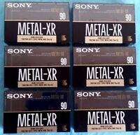 6x Sony Metal Xr 90 [1990-92] Blank Audio Cassette Tapes Sealed - sony - ebay.es