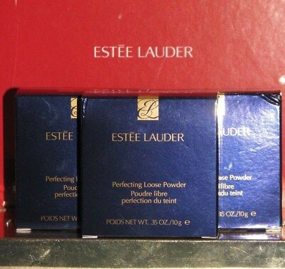 - Estee Lauder PERFECTING Loose Powder LIGHT Medium DEEP .35 oz 10g Full Size