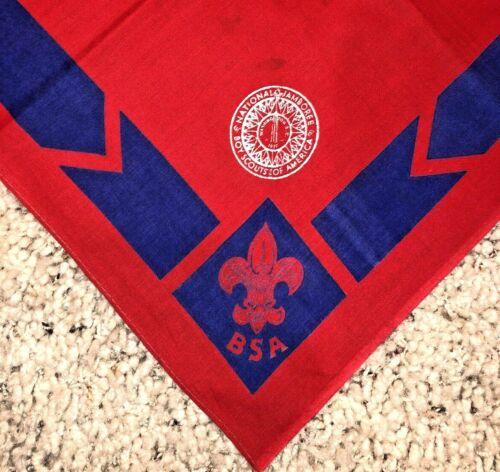 Original 1937 National Boy Scout Jamboree Red Leaders Neckerchief Full Square