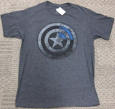 Captain America Athletic Fit Stretch T Shirt Gray Marvel Avengers Comic NEW (Captain America New T-shirt)