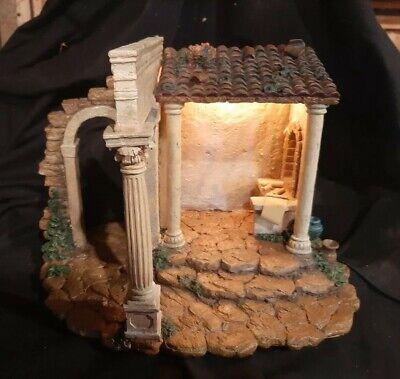 Vintage Fontanini Nativity Set Census Building-Large Format Piece-Boxed-Nice