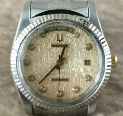 BULOVA President DAY-DATE COMPUTER Dial Diamond Style AUTOMATIC 36mm Men's Watch