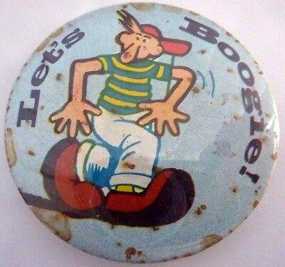 """LET'S BOOGIE, Vintage Metal  Badge 2 ½   """""""