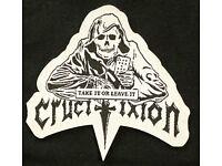 "Crucifixion /""Take It Or Leave It /'T Shirt NWOBHM Saxon Riot Motorhead JAGUAR"