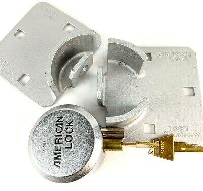 American Lock 2000 Series Hidden Shackle Round Padlock W Round Hasp High Secure