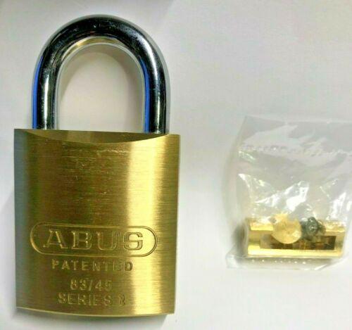 Abus 83/45 Brass Padlock no keys or cylinder brand new