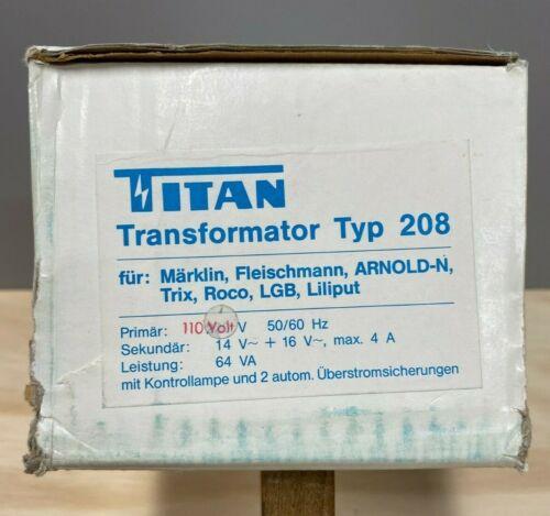 Marklin  208 Titan 110V. 64VA Transformer with 14 and 16 ac output.  Never Used.