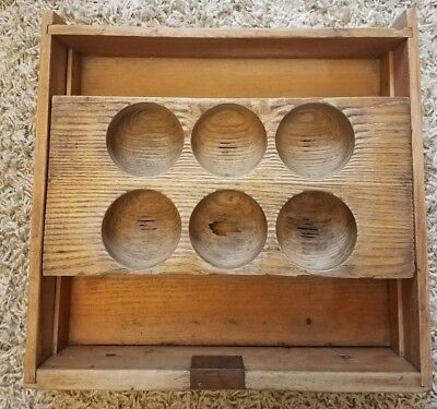 Vintage Wood Cash Drawer w/ Sliding Change Tray Under Counter Farm (Counter Change Cash Tray)