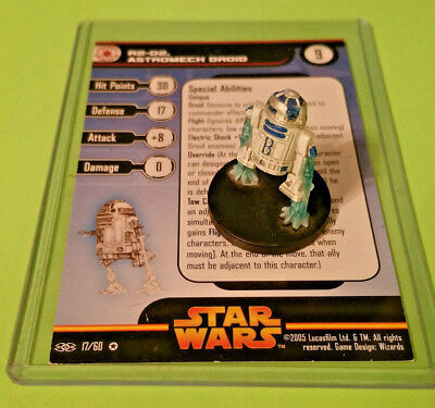 Star Wars Miniatures R2-D2 Astromech Droid 17/60 Very Rare - Revenge of Sith