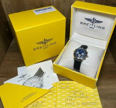 Breitling Chrono Cockpit A30012 Automatic B30 Stainless Mens Watch Box & Papers