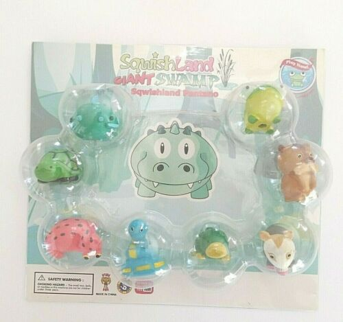 SquishLand Giant Swamp Display Blister Pack with 8  Squishies