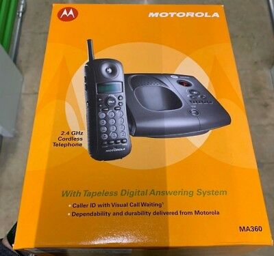 Motorola MA360 2.4GHz Cordless Home Telephone With Digital Answering System