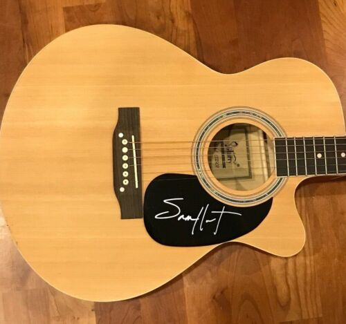 * SAM HUNT * signed autographed acoustic guitar * HOUSE PARTY * PROOF * 4
