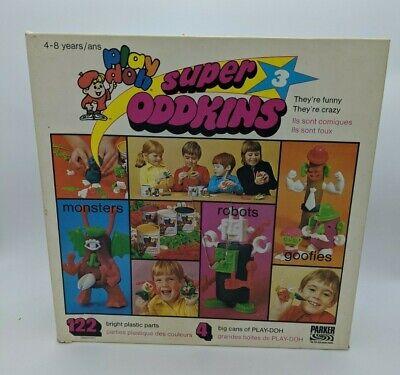 Vintage Play-Doh Super Oddkins 3 Parker Bros 1970