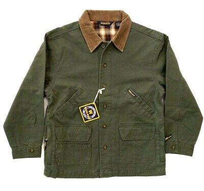 New Vintage Boy's Woolrich John Rich Plaid Lined Barncoat Jacket Size Med