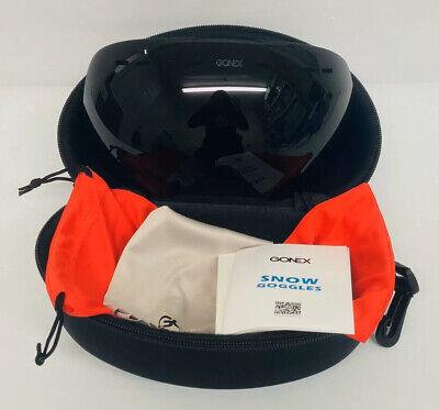 NEW GONEX OTG Professional Oversized Winter Ski Snowboard Goggles w/ Case Black