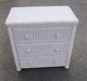 White Wicker Chest