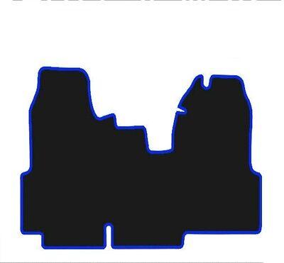 FORD TRANSIT MK7 VAN (2007-2014) TAILORED BLACK CARPET FLOOR MATS WITH BLUE TRIM