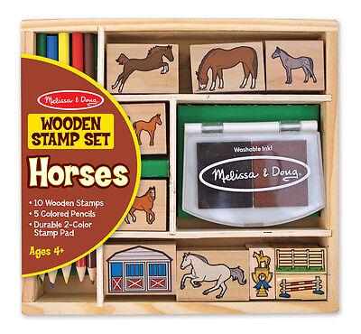 Doug Horses Stamp Set - Melissa & Doug Horses Stamp Set #2410 Brand New