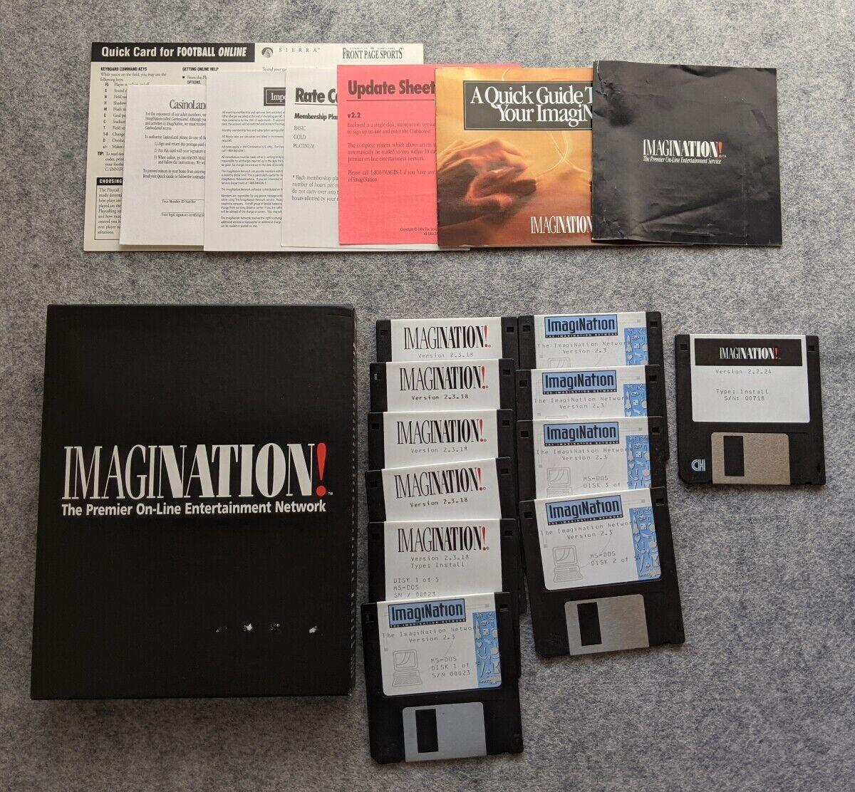 Computer Games - ImagiNation Network IBM PC Sierra On-Line vintage computer game Imagi Nation