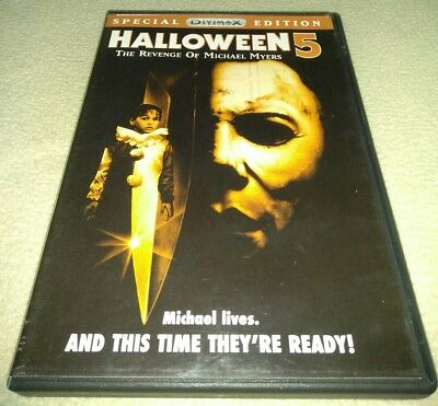 Halloween 5 The Revenge of Michael Myers DVD Special Edition RARE cover