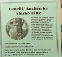 Auction and benefit show for Shirley Hiltz