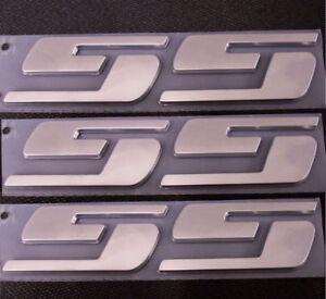 3x OEM Chrome SS Emblems Sticker 3D L Silverado Chevrolet GMC series Big
