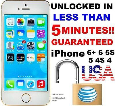 Factory Unlock Service/Code Express Att AT&T iPhone 5, 6, 6S, 7, 8 CLEAN IMEI