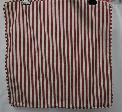 "POTTERY BARN Pillow Cover Red & White Wheaton Stripe 18"" x 18"" Free Shipping"