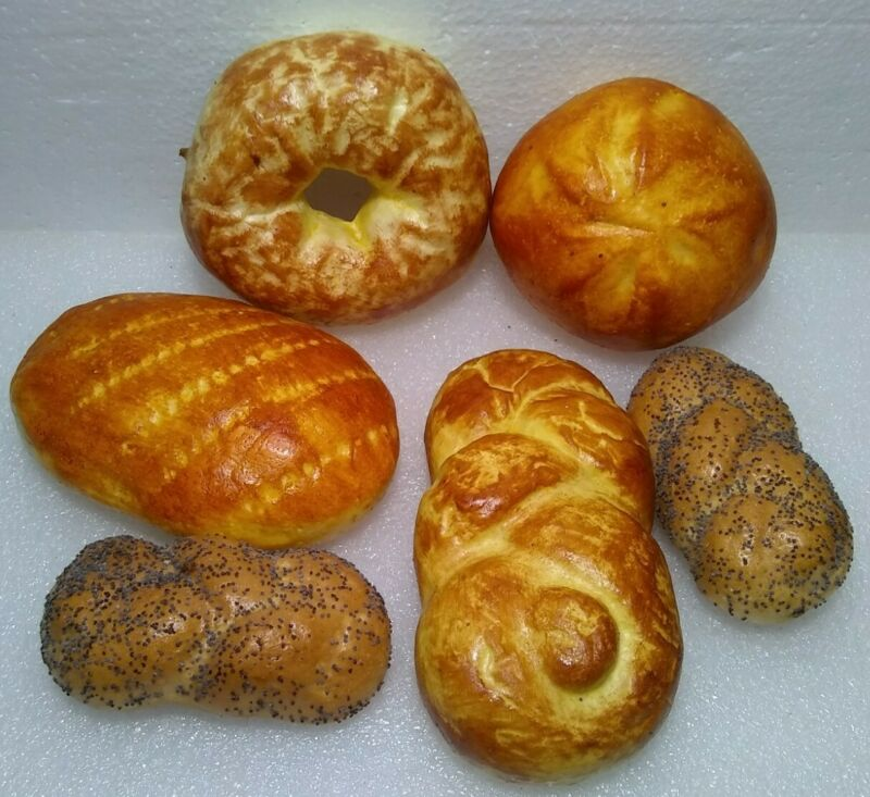 Faux Fake Bread Pastries lot of 6