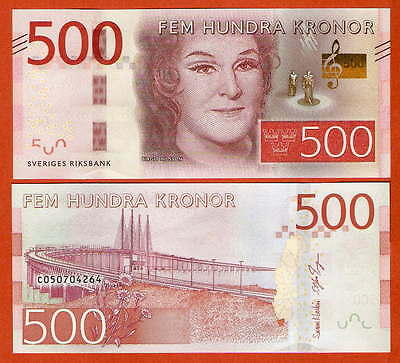 P73a  Sweden / Schweden  500 Kronor   2015   UNC neu
