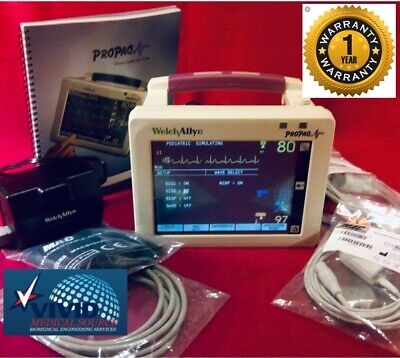 Welch Allyn Propaq 242 Cs Patient Monitor Spo2 Nibp Temp Ecg 1 Yr Warranty Cert