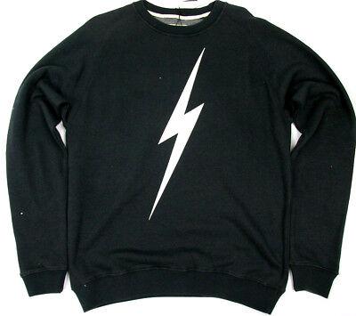 Lightning Long Sleeve (Lightning Bolt Long Sleeve Crew Neck Sweatshirt Bolt Moonless Night Surf  Bolt  )