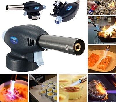 New Blow Torch Butane Gas Flamethrower Burner Welding Auto Ignition soldering