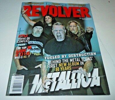 Metallica~Revolver Magazine~Feb 20th 2017~Lars~Hetfield~Hammett~Brand New~Robert