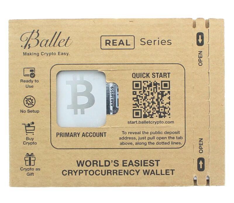 Ballet REAL Series Bitcoin Cold Storage Wallet Card