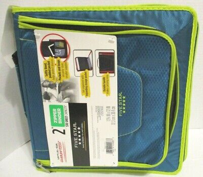 New Five Star Zipper Binder 2 Multi-pocket School Binder 530 Sheet Capacity