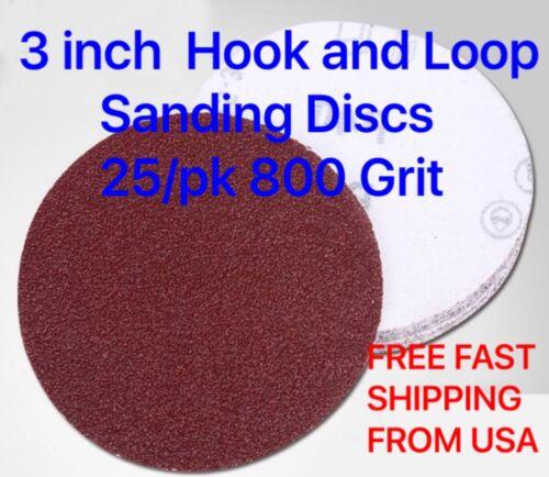 3 inch hook and loop sanding discs