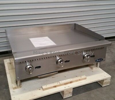 New 36 Gas Griddle Atosa Atmg-36 2550 Commercial Plancha Flat Top Restaurant