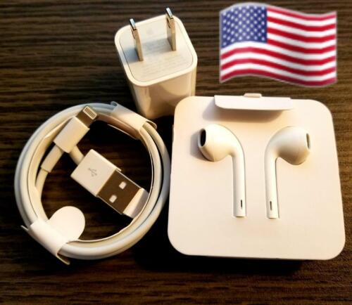 All iPhone Accessories Wall Charger, Cable&  Earphones 7 8 X11 & 12