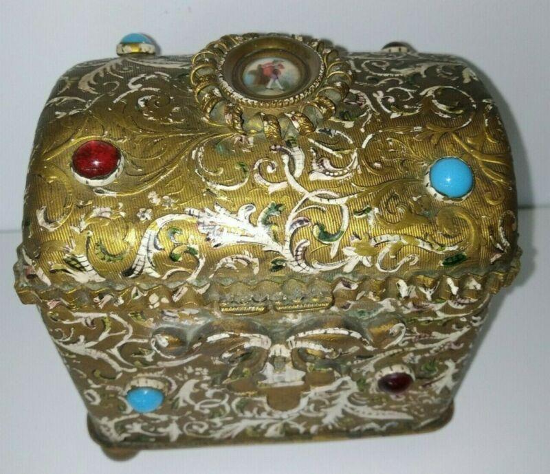 Austro Hungarian Jeweled Casket Box