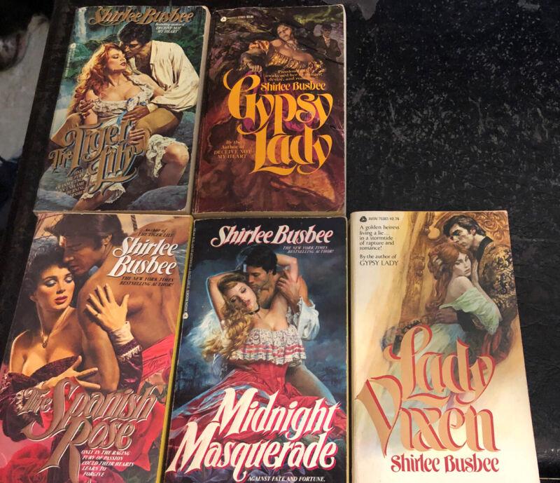 Shirlee Busbee Avon Romance Paperback Book Lot