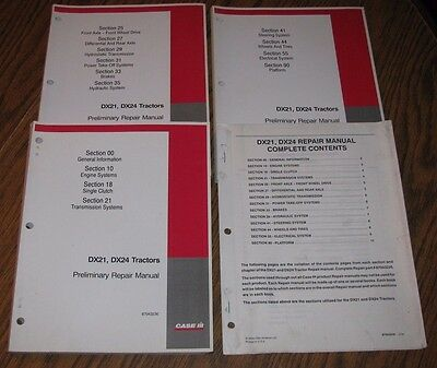 Case Ih Dx24 Dx21 Compact Utility Tractor Service Repair Shop Manual 2004 Cih
