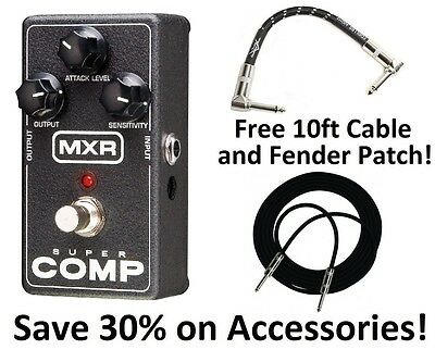 Comp Compressor - New MXR M132 Super comp Compressor Guitar Effects Pedal! Free Extras! Supercomp